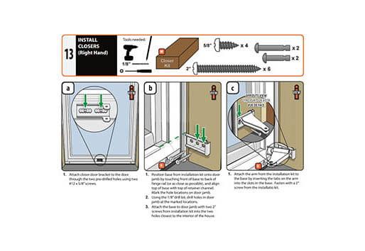 Installation Resources Andersen Emco Storm Doors