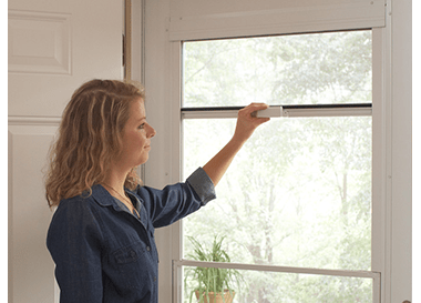 Top Line Self Storing Storm Door Andersen Emco 400 Series